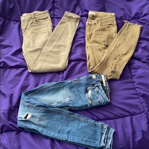 Lot of 3 ZARA jeans